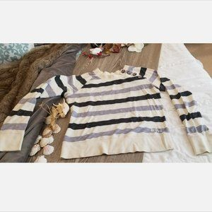2/$50🌊3/$60 Roxy LS Multi-Stripe Shirt